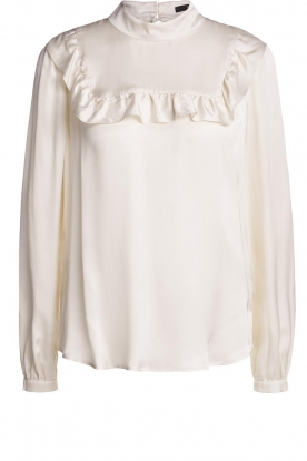 Set |  Blouse with ruffles Madame | white