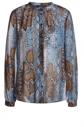 Set |  Snake printed blouse Sizzly | blue