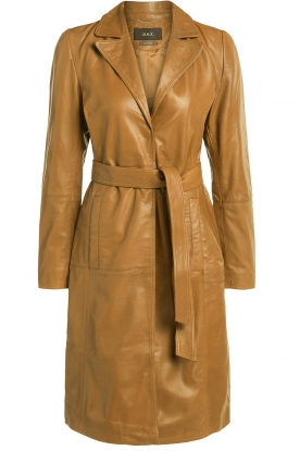 Set | Leather trenchcoat Emilia | brown