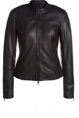 Set |  Leather jacket Nelia | black