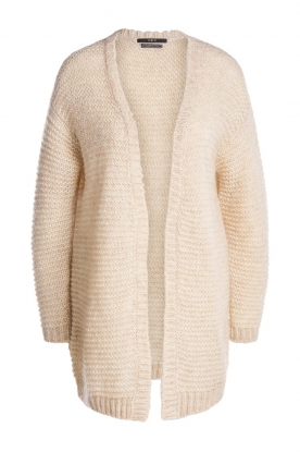 Set |  Soft knitted cardigan Ribble | naturel