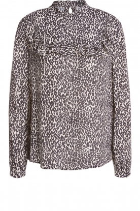 Set | Blouse with leopard print Tigra | animal print