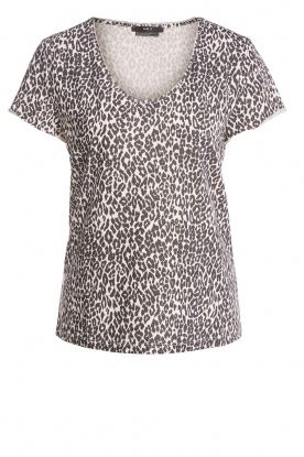 Set |  T-shirt with leopard print Groovy | black