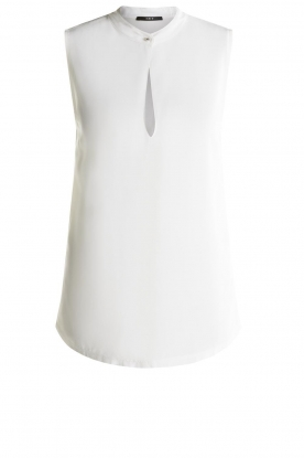 Set | Sleeveless top with cut-out Delicate | white