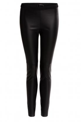 Set |  Faux leather legging Dab | black