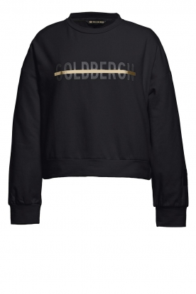 Goldbergh |  Sweatshirt with logo print Sonia | black