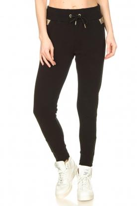 Goldbergh |  Sweatpants with fishnet details Ann | black
