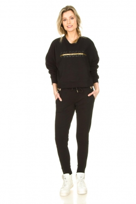 Goldbergh |  Sweatpants with fishnet details Ann | black