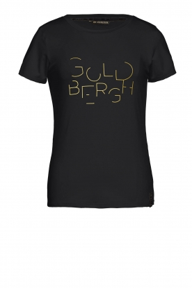 Goldbergh |  Sports top with logo print Michelle | black