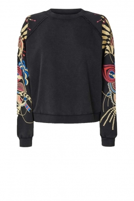 Lolly's Laundry |  Printed sweatshirt Tate | black