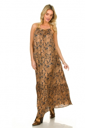 Lolly's Laundry |  Floral printed maxi dress with lurex Merian | multi