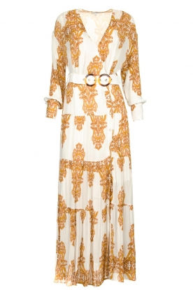 Silvian Heach |  Maxi dress with baroque print Campo | natural