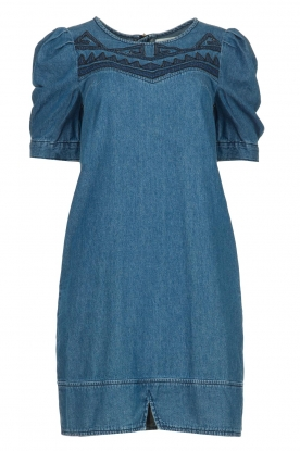 Silvian Heach |  Denim dress Mogon | blue