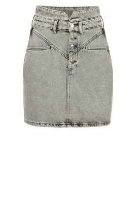 Silvian Heach |  Denim skirt Nidiole | grey