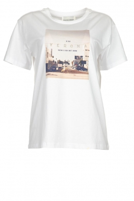 Silvian Heach | T-shirt with print Woija | white