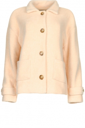 JC Sophie |  Short coat Cacao | pink