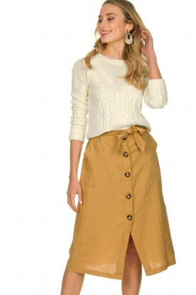 JC Sophie |  Paperbag skirt Cadiz | brown