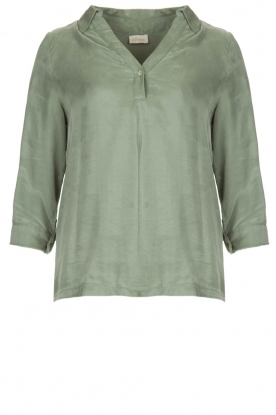 JC Sophie |  Blouse with v-neck | green