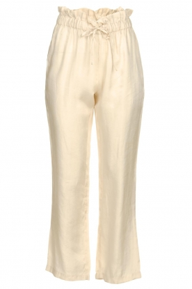 JC Sophie |  Trousers with drawstring Camden | natural