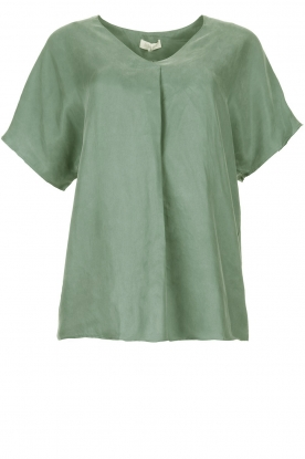 JC Sophie |  Blouse with v-neck Camellia | green