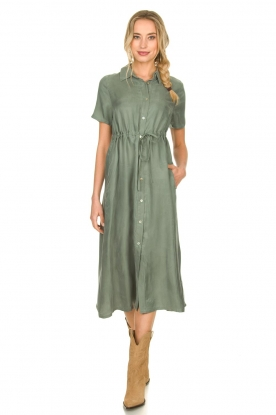 JC Sophie |  Dress with drawstring Cameo | green