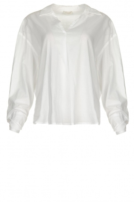 JC Sophie |  Blouse with bow detail Cappuccino | white