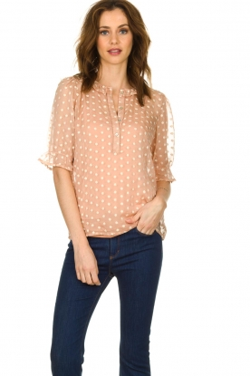 JC Sophie |  Blouse with embroidery Charley | pink