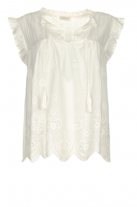 JC Sophie |  Embroidery top Chassie | white