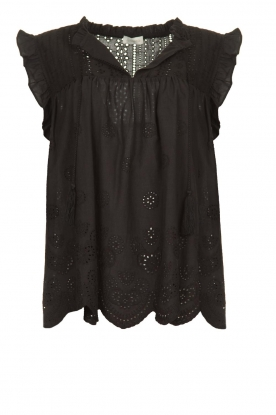 JC Sophie |  Embroidery top Chassie | black