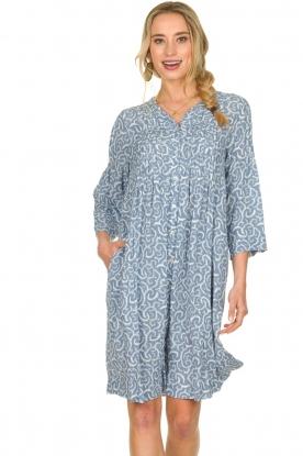 JC Sophie |  Midi dress with flower print Christiana | blue