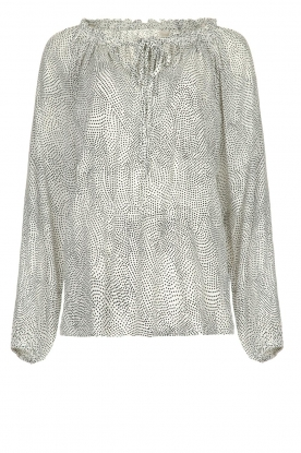 JC Sophie |  Blouse with polka dots print Christobel | white