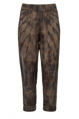 Rabens Saloner | Cotton tie dye pants Lily | grey