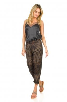 Rabens Saloner |  Cotton tie dye pants Lily | grey