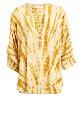 Rabens Saloner |  Tie-dye blouse Majbrit | yellow