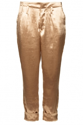 Rabens Saloner |  Metallic pants Anya | gold