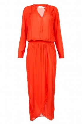 Rabens Saloner |  Maxi dress with pleats Kim | red