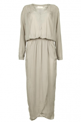 Rabens Saloner | Maxi dress with pleats Kim | grey