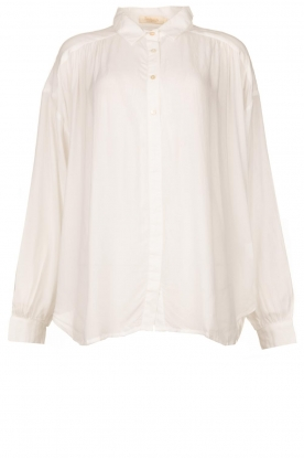 Rabens Saloner |  Oversized blouse Resemary | white