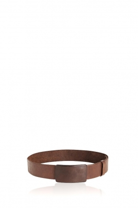 Rabens Saloner |  Leather belt Sibilla | brown