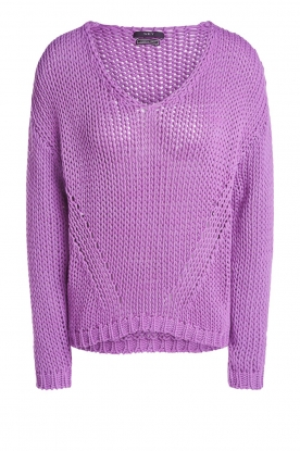 Set | Chunky knitted sweater Liza | purple