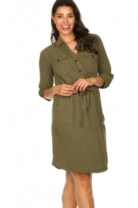 Set    Cotton dress Anna   green