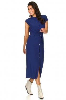 Set |  Maxi dress with belt Div | blue