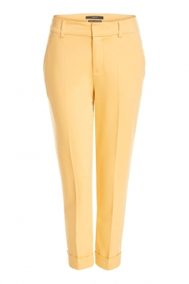 Set |  Trousers with striking seams Nathalie | yellow