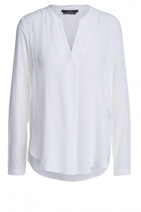 Set |  Blouse with v-neck Vera | white