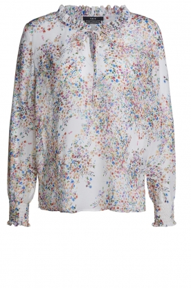 Set |  Blouse with floral print Vera | white