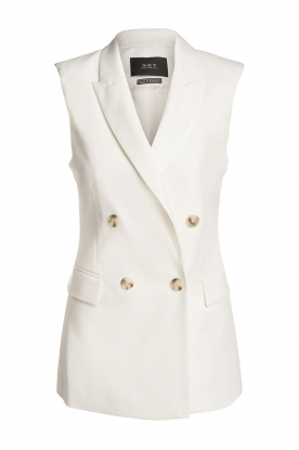 Set |  Sleeve less blazer Dian | white