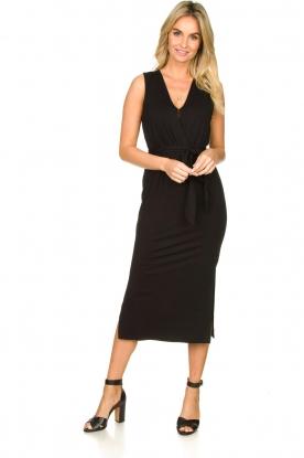 Set    Wrap dress Deta   black