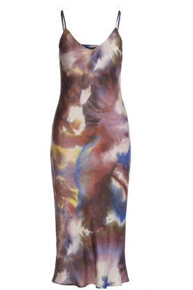 Set |  Slipdress with multicolor print Sana | multi