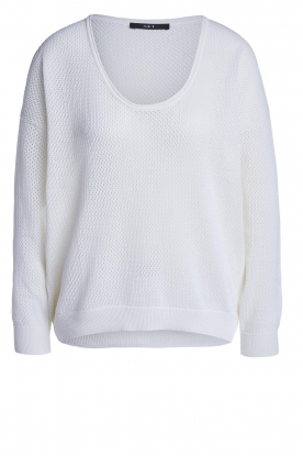 Set |  Ajour sweater Ya | white