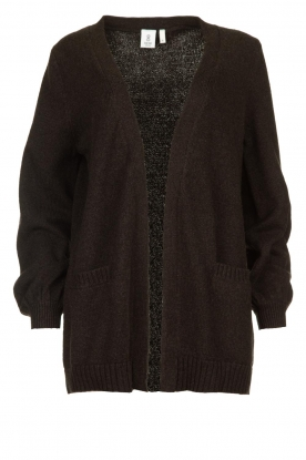 Knit-ted | Cotton cardigan Raley | black